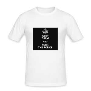 #KeepCalmAndFuckThePolice - Slim Fit T-shirt herr