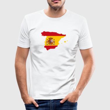 Espanja - Miesten tyköistuva t-paita