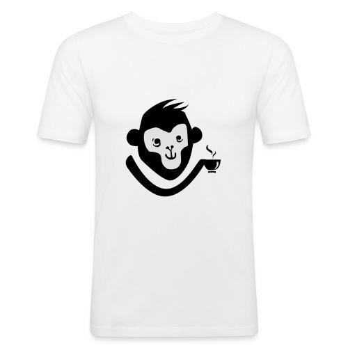Kaffee-Affe - Männer Slim Fit T-Shirt
