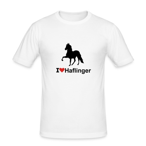 I Love Haflinger - Männer Slim Fit T-Shirt