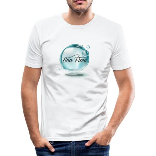 abbigliamento e tazze logo Sea Flow Bolla - Maglietta aderente da uomo