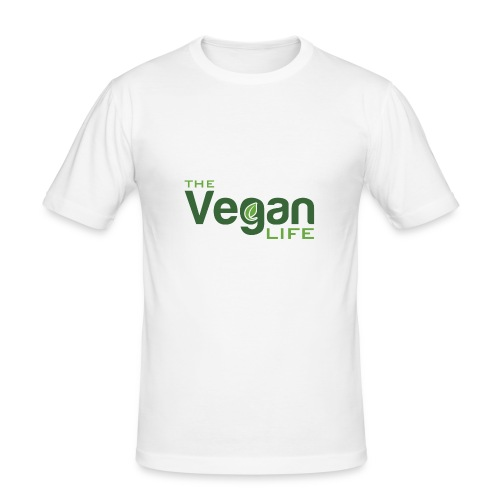 The Vegan Life Logo - Men's Slim Fit T-Shirt