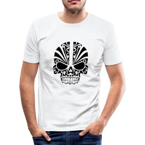 tribal skull - Männer Slim Fit T-Shirt