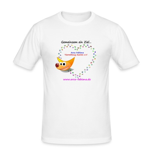 Arca Fabiana bunte Hunde - Männer Slim Fit T-Shirt