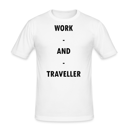 WORK AND TRAVELLER - Männer Slim Fit T-Shirt