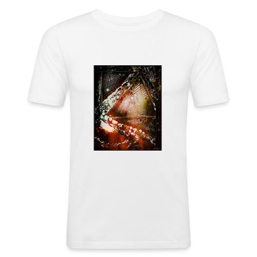 Verfangen in Struktur - Männer Slim Fit T-Shirt