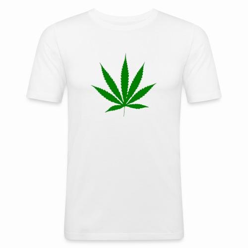 basice weed leaf - Men's Slim Fit T-Shirt