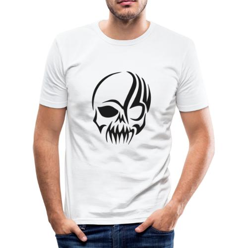 tribals skull - Männer Slim Fit T-Shirt