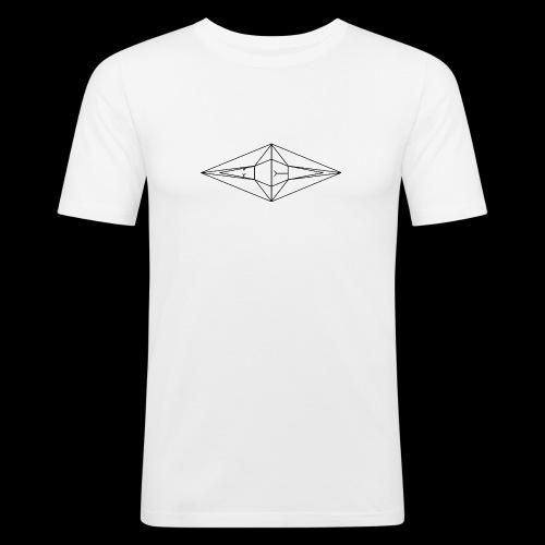 Schwarz-Weiß Meo Logo - Männer Slim Fit T-Shirt