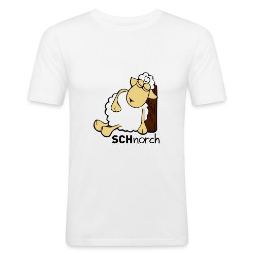 Schaf Schlaf Lustig - Männer Slim Fit T-Shirt