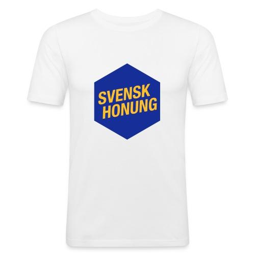 Svensk honung Hexagon Blå/Gul - Slim Fit T-shirt herr