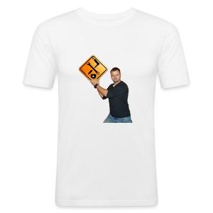 Mark mit M1Molter - Logo - Männer Slim Fit T-Shirt