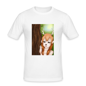 Womens tank: Deer-girl Design by Tina Ditte - Men's Slim Fit T-Shirt