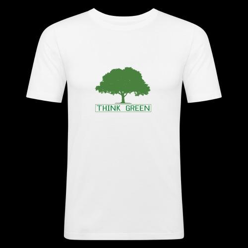 think green - Camiseta ajustada hombre