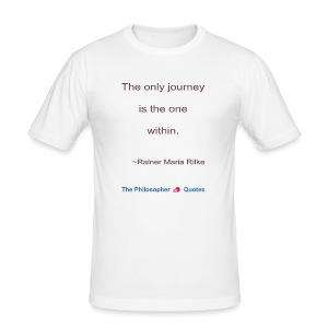 Rainer Maria Rilke The journey within Philosopher - slim fit T-shirt