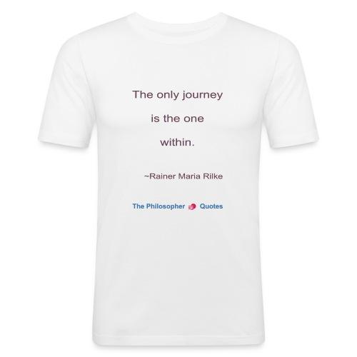 Rainer Maria Rilke The journey within Philosopher - slim fit T-shirt
