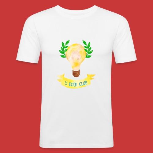 5 IDEEN CLUB Glühbirne 2018 - Männer Slim Fit T-Shirt