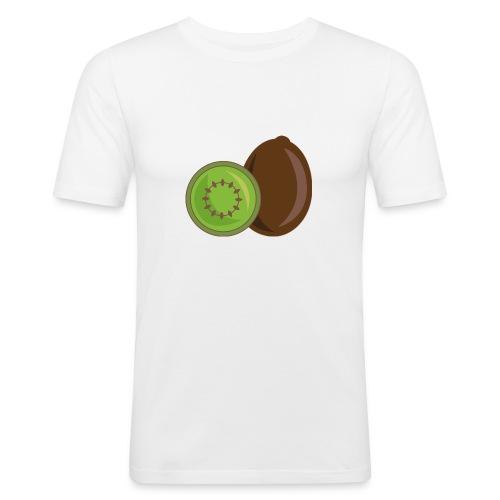 Kiwi logo - Männer Slim Fit T-Shirt