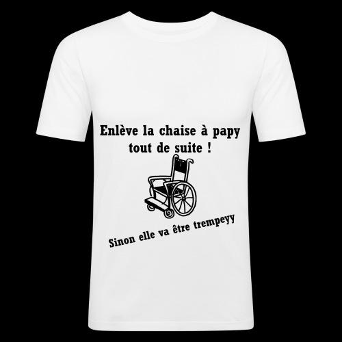 La chaise à papy - T-shirt près du corps Homme
