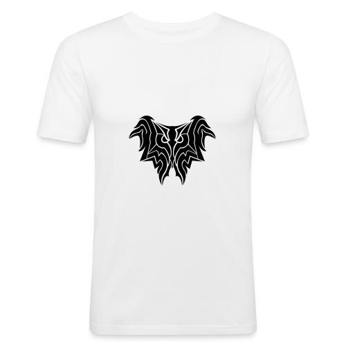 Insane Reactionz Logo Schwarz - Männer Slim Fit T-Shirt