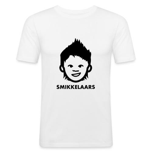 Button met logo - slim fit T-shirt