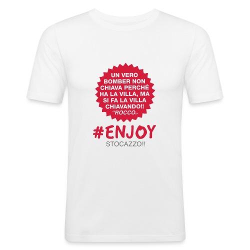 EnjoyStoCazzo 8 - Maglietta aderente da uomo