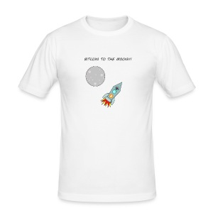 Bitcoin To The Moon T-Shirt - Men's Slim Fit T-Shirt