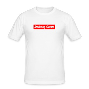 Storhaug Ghetto Box Logo - Slim Fit T-skjorte for menn