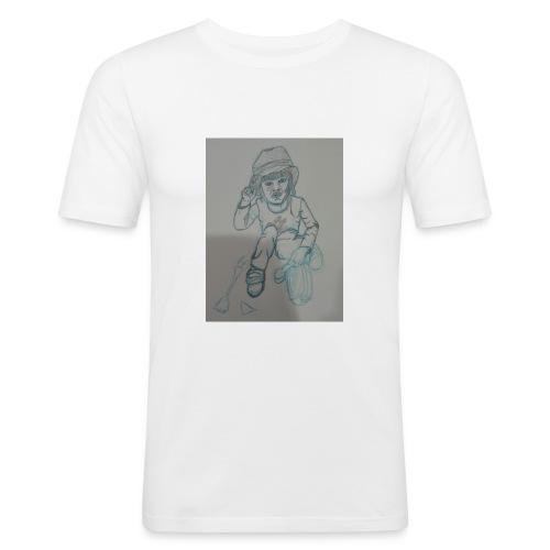 Camiseta con retrato - Camiseta ajustada hombre