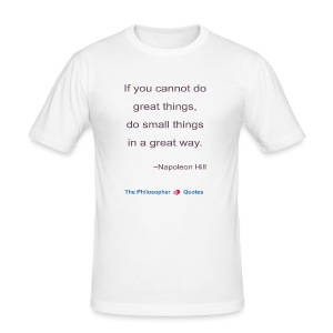 Napoleon Hill Do small things in a great way Philo - slim fit T-shirt