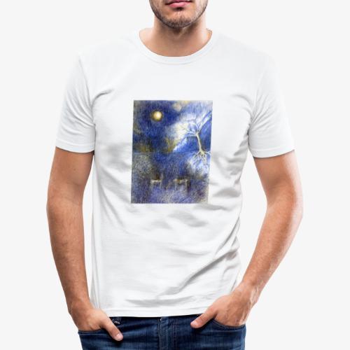 In Night On Meadow - Obcisła koszulka męska