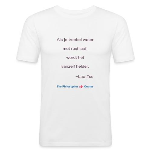 Lao Tse Troebel water b - slim fit T-shirt