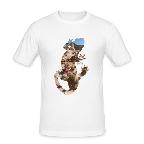AWAKE! Lizard - Männer Slim Fit T-Shirt