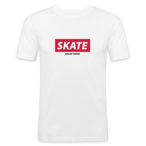 SKATE Boxed Logo - Männer Slim Fit T-Shirt