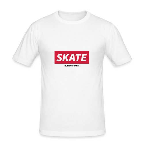 SKATE Boxed Logo - Männer Slim Fit T-Shirt