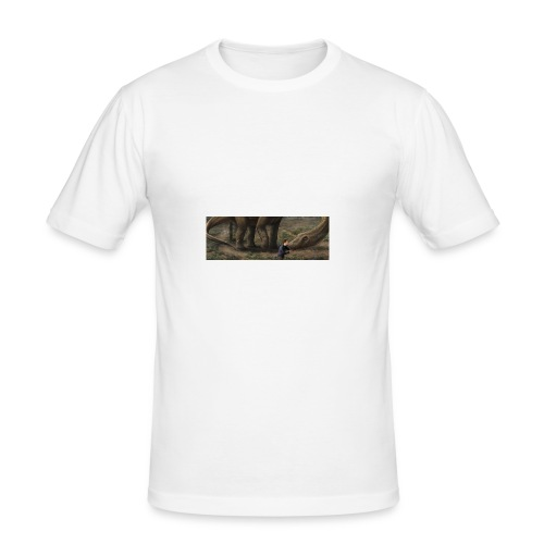 Dinosauriemuggen - Björn älskar dinosaurier! - Slim Fit T-shirt herr