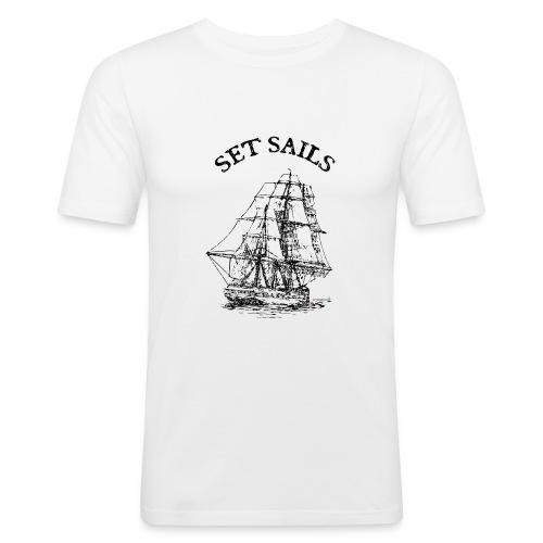 bridgeport set sails - Männer Slim Fit T-Shirt