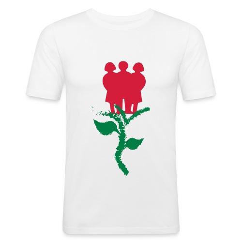 INSZENARIO® Rose - Männer Slim Fit T-Shirt