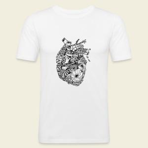 Kolibri Herz - Männer Slim Fit T-Shirt