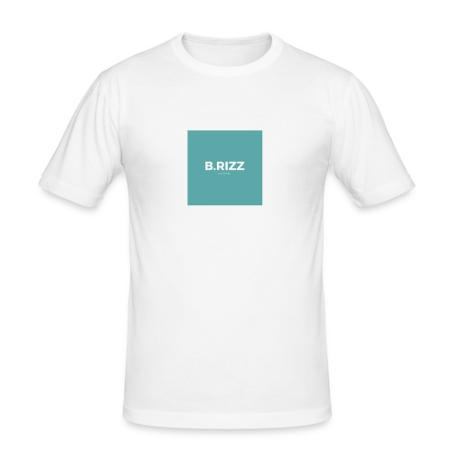 Brizzclothing green white tee - Men's Slim Fit T-Shirt