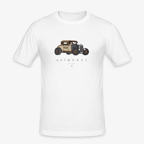 Hotrod colored brown - Männer Slim Fit T-Shirt