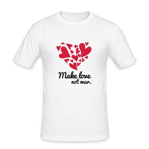 Make Love Not War T-Shirt - Men's Slim Fit T-Shirt