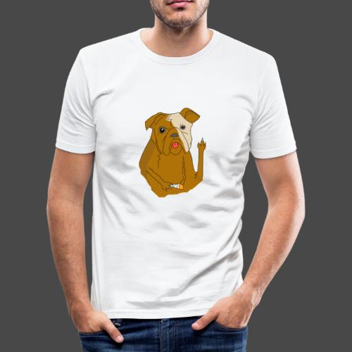 Smokey the Dog - Men's Slim Fit T-Shirt