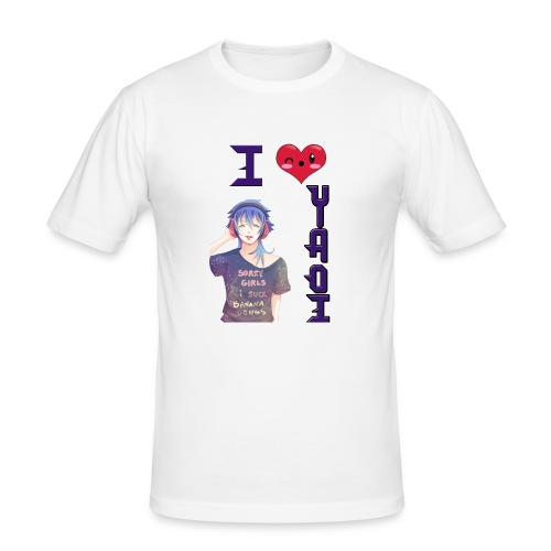 I love Yaoi ( Aoba ) - Camiseta ajustada hombre