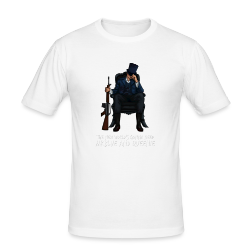 MrBlue's New World - Men's Slim Fit T-Shirt