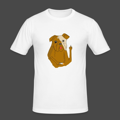 Smokey the Dog - Men's Slim Fit T-Shirt