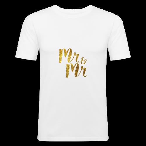Mr & Mr . Stag / Wedding Day - Men's Slim Fit T-Shirt