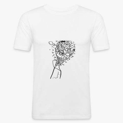 shampoo doodles - Men's Slim Fit T-Shirt