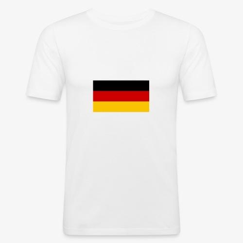 deutscheflagge001 1366x768 - Männer Slim Fit T-Shirt