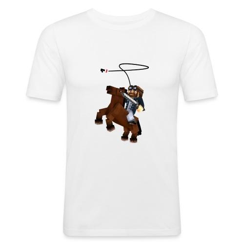 Titan y su rocinante café - Camiseta ajustada hombre